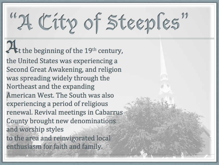 City of Steeples
