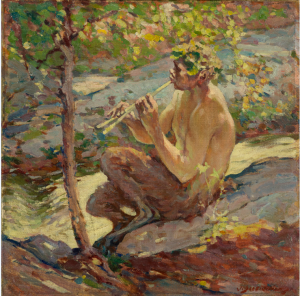 J. Scott Williams, Faun, Oil on board
